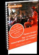E-book De Oranje Man Top 13 NL meezingliedjes van vroeger